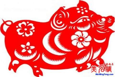 猪的剪纸图案教程